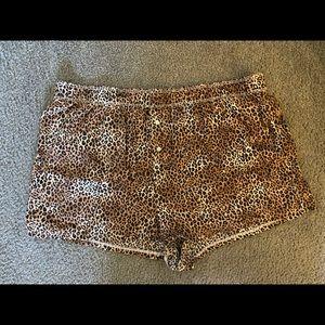 Pink cheetah pajama shorts
